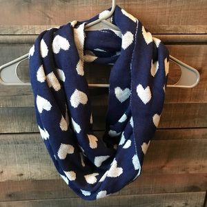 Blue Heart Reversible Scarf